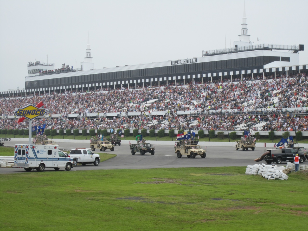 Military Taking Part In The Opening Ceremonies