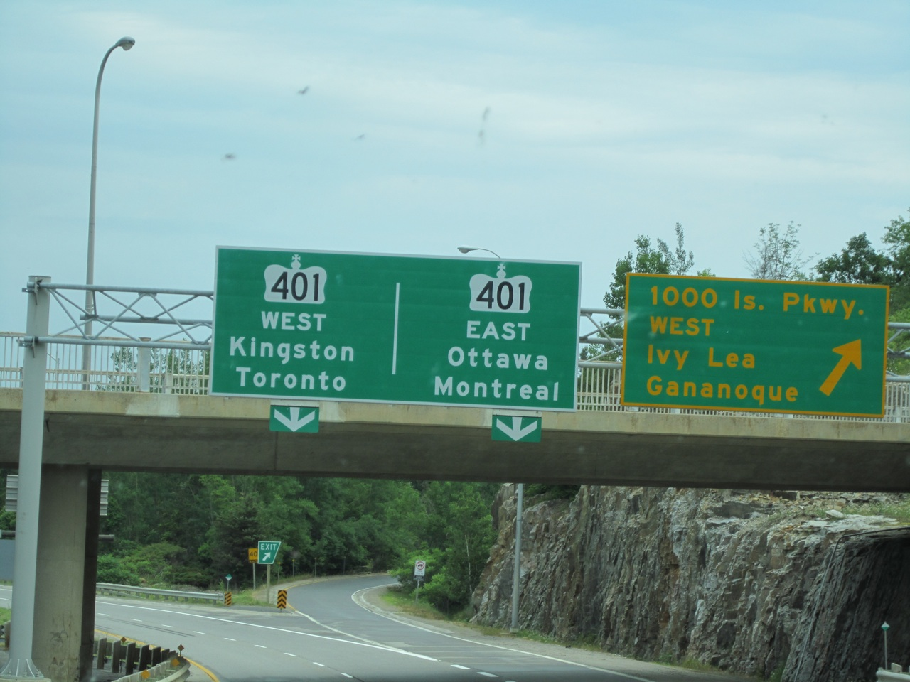 The Sign Heading Towards Montreal, Canada