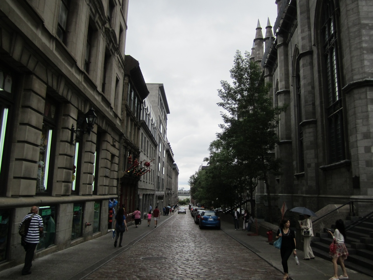Cobblestone Side Street Next To Notre Dame Basilica