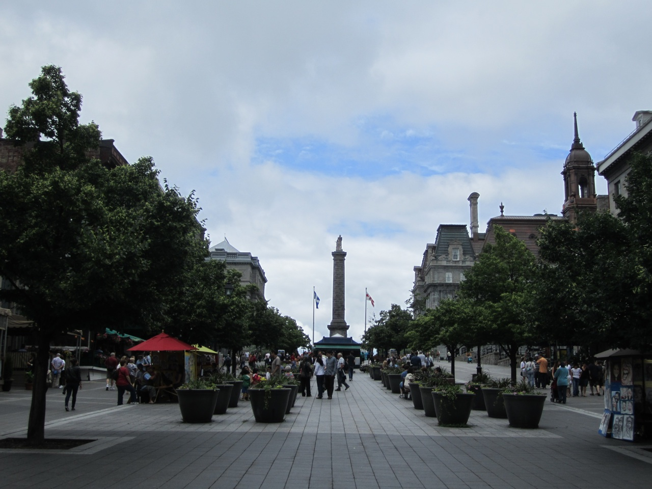 A Central Square In Old Montreal