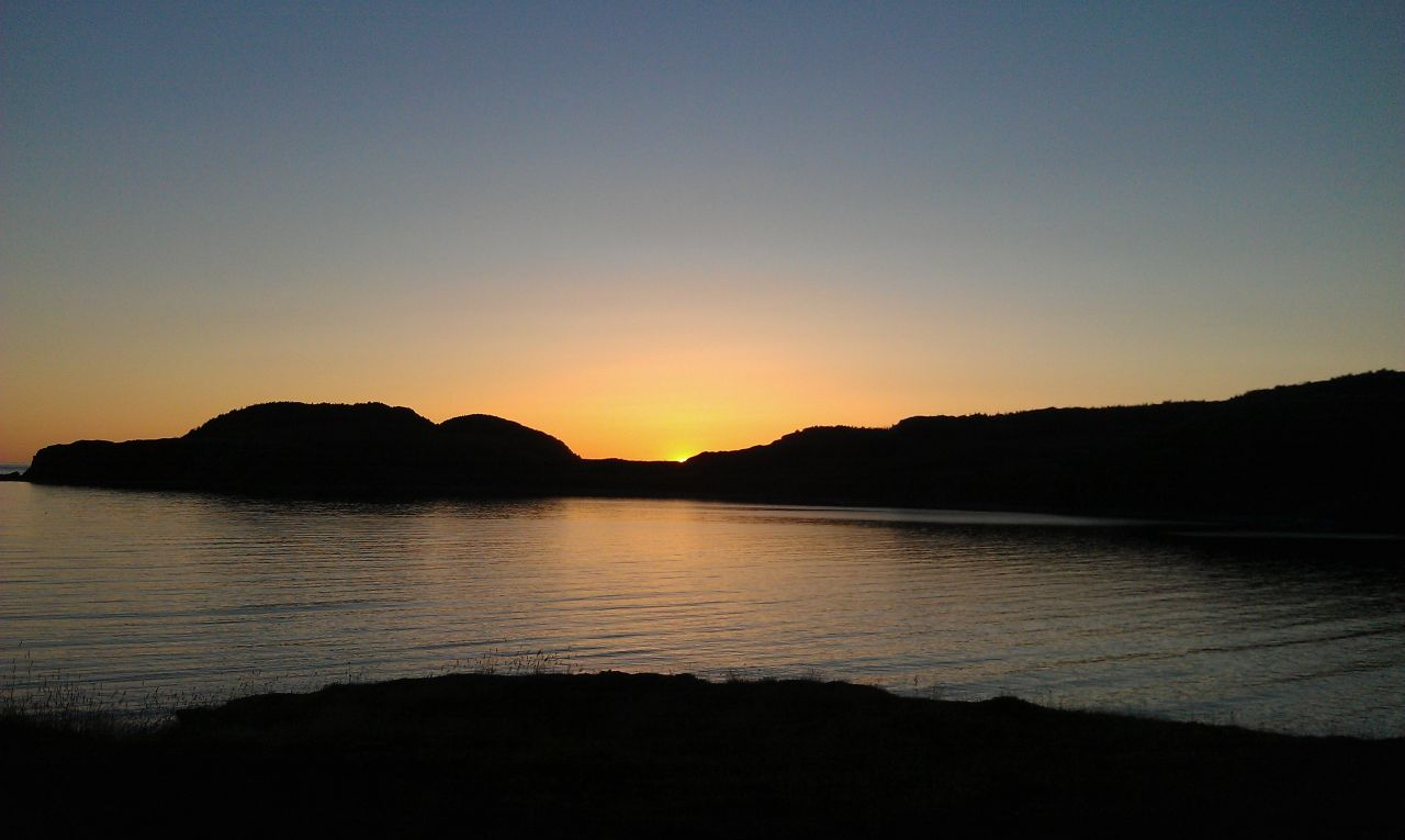 Sunset In Twillingate Right By Our Campground
