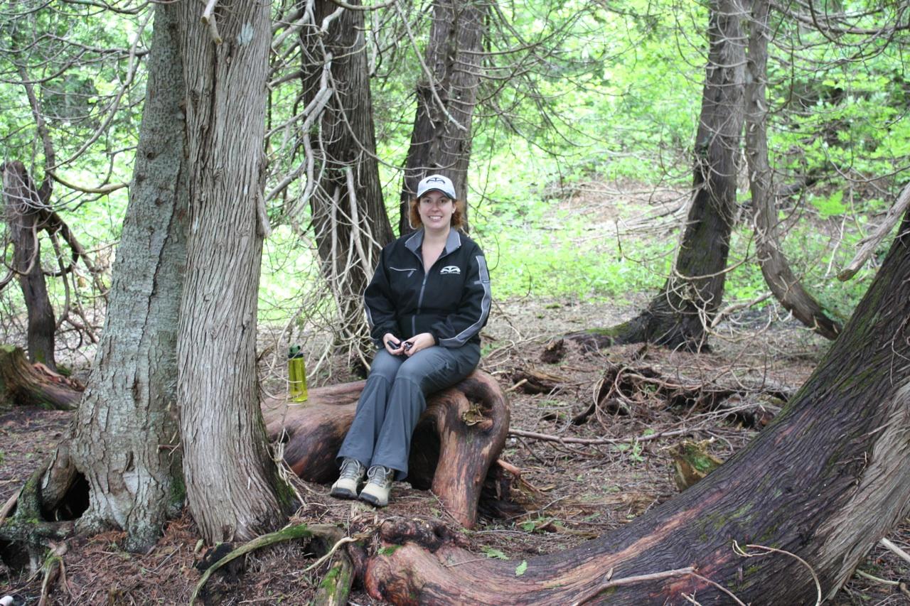 Brenda Taking A Break On The Hiking Trail