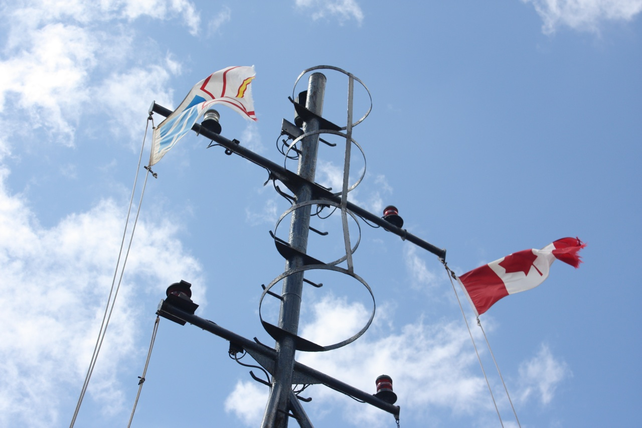 The Flags On Board The Ferry To Bell Island