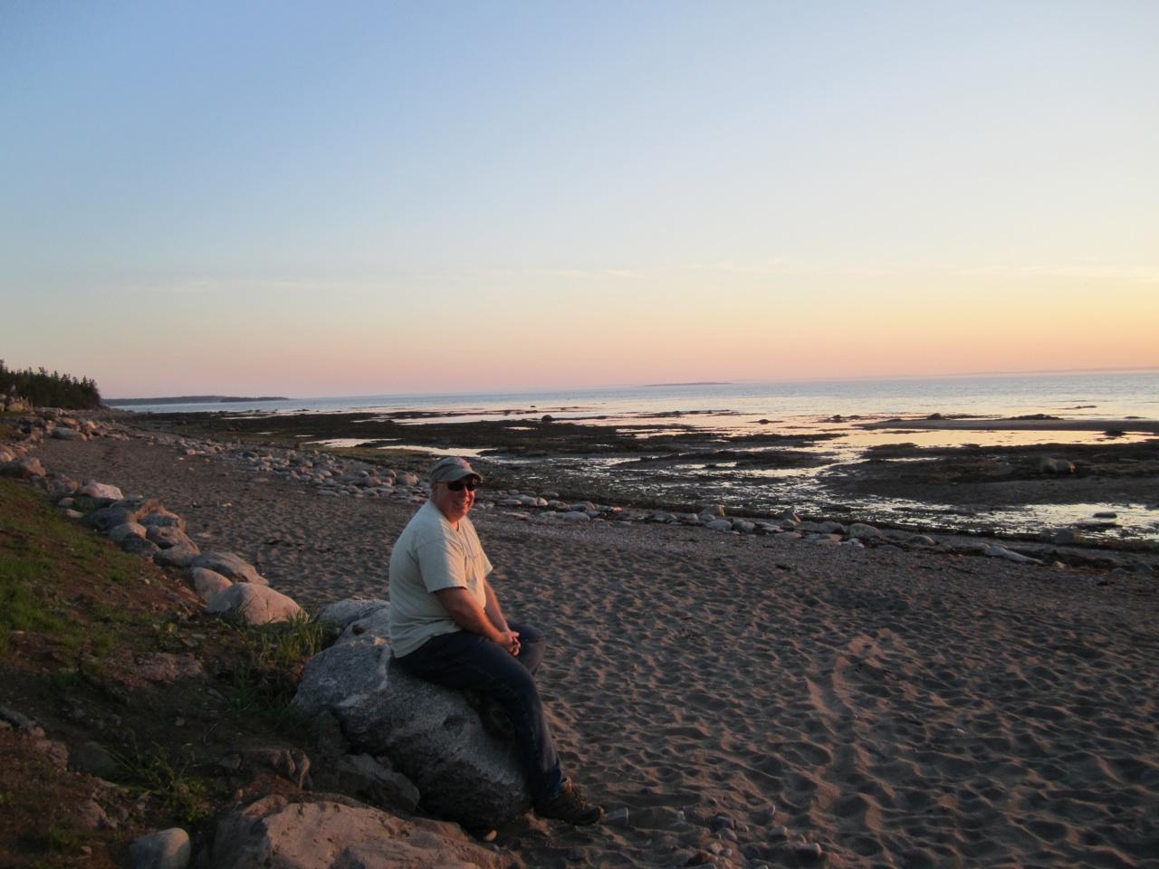 David Sitting And Enjoying The Sunset