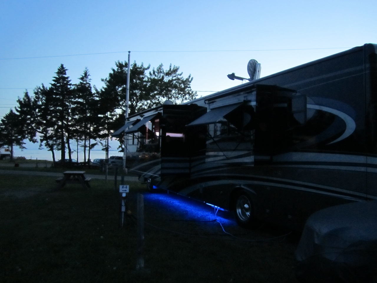 Our Coach At Trois Pistoles Campground
