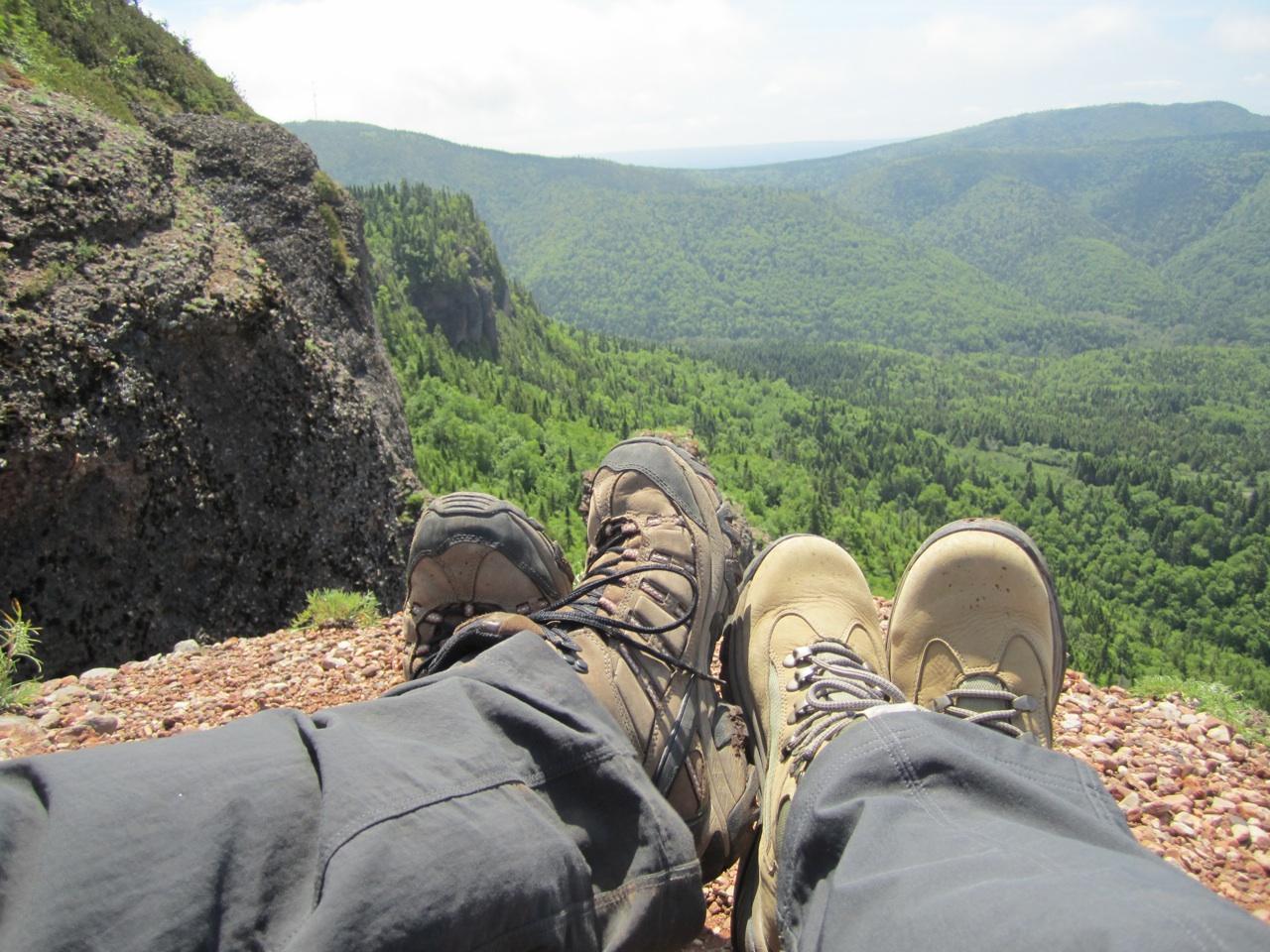 Enjoying The Scenery At The Crevasse