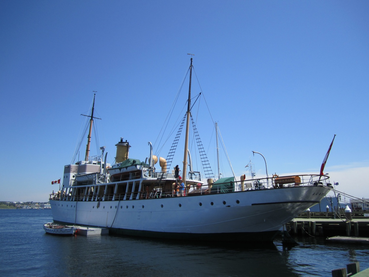A Ship In The Harbor In Halifax