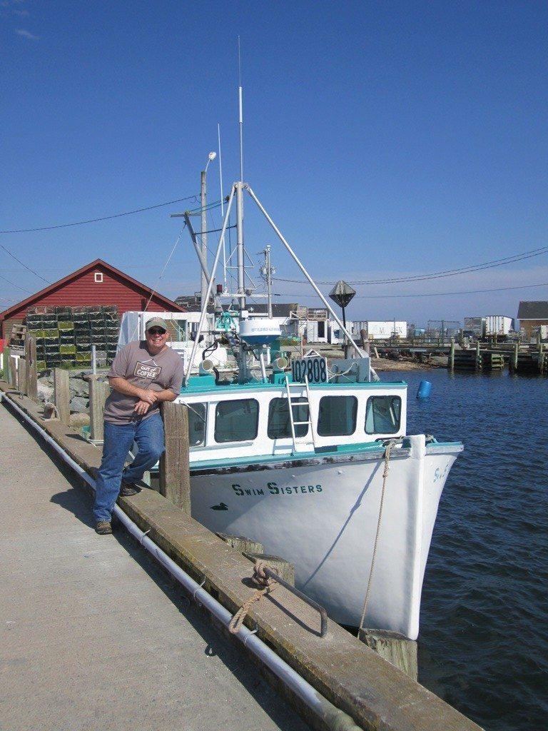 David And A Fishing Boat