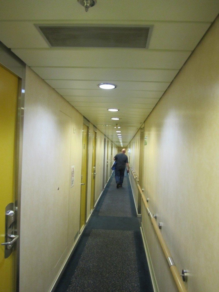 Long Narrow Hallways To The Cabins