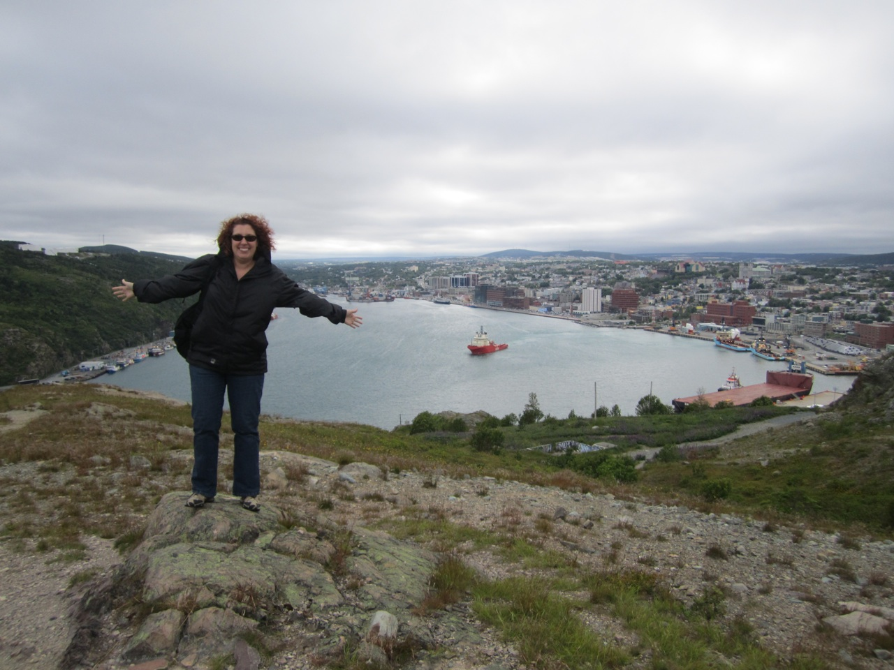 Brenda On Signal Hill Overlooking St. John's