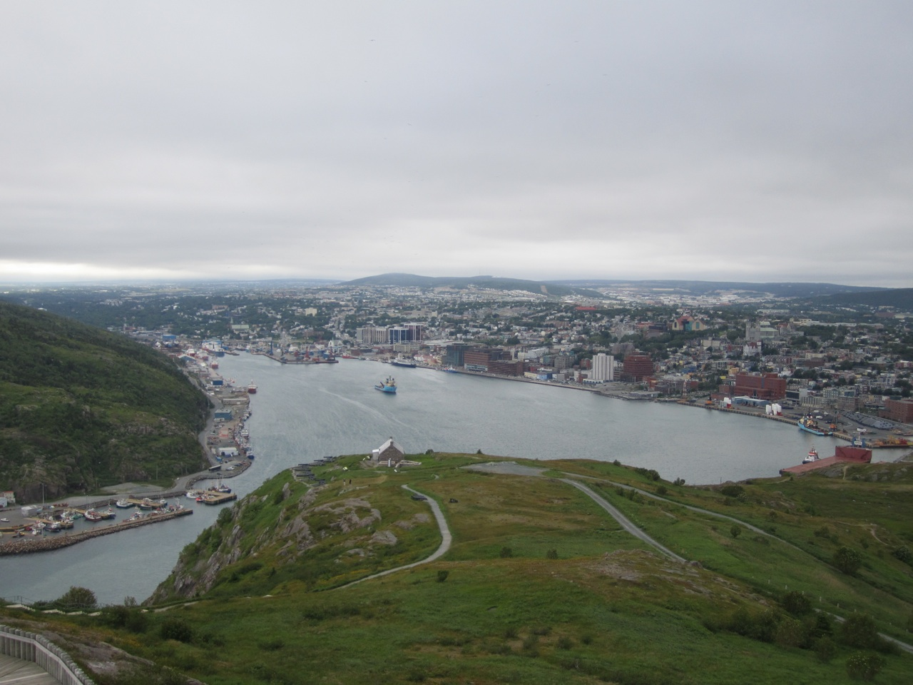 A Picture Of St. John's From A Top A Hill