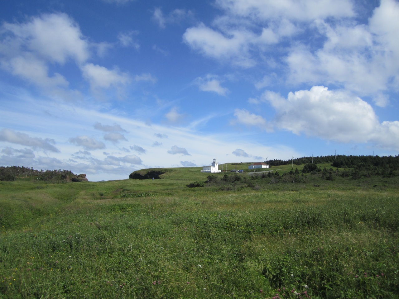 Beautiful Scenery And The Lighthouse On Bell Island