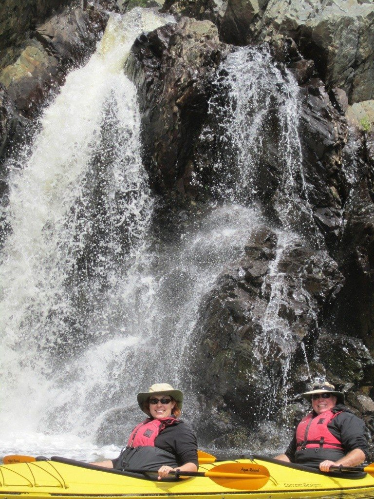 David And Brenda In Front Of A Waterfall
