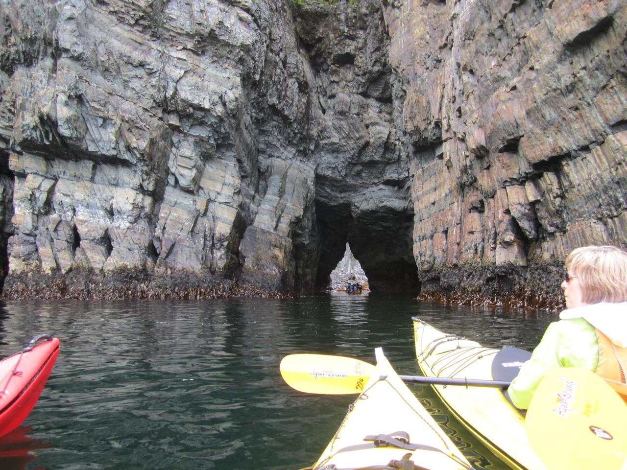 Exploring Caves Via Kayak