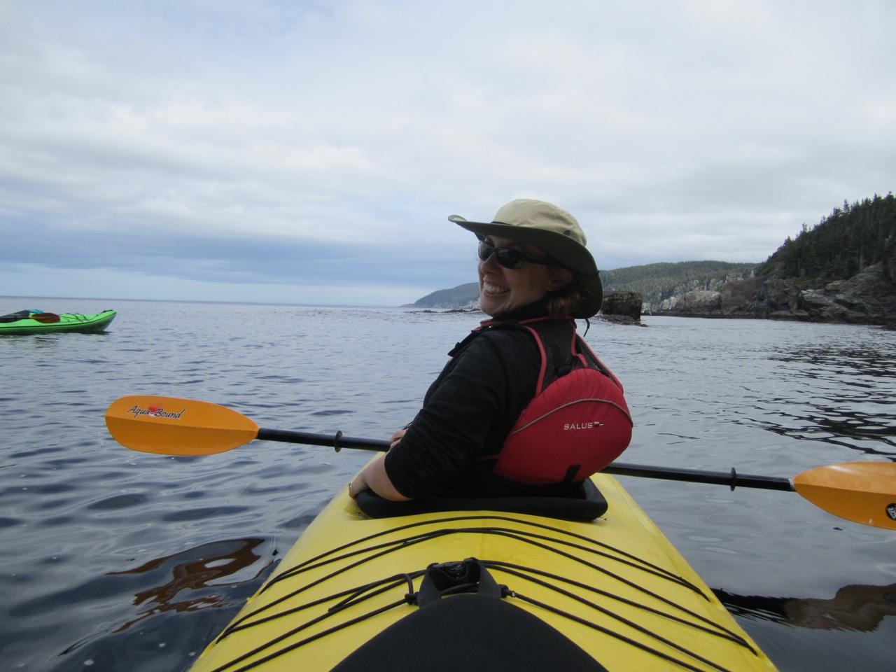 Brenda In Front Of Kayak