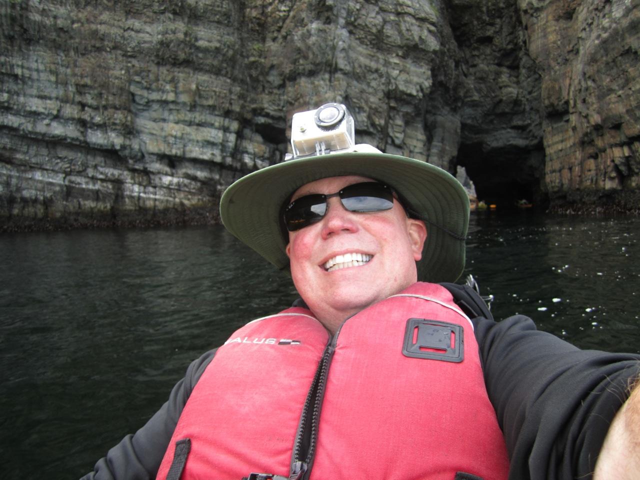 David's Self Portrait, In The Back Of The Kayak