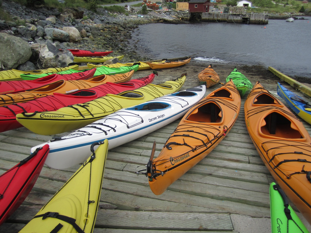Kayaks Waiting To Go Out
