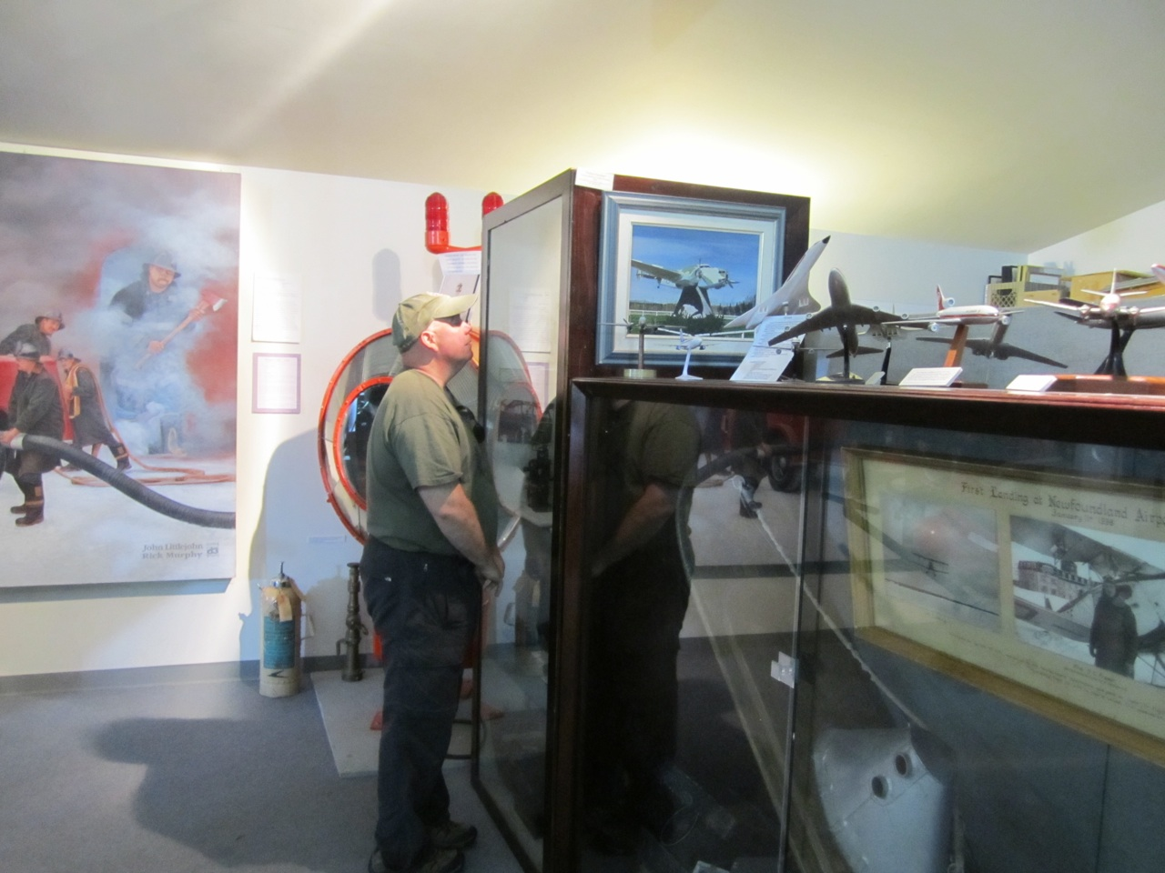 David Checking Out Some Of The Aviation Artifacts In The Museum