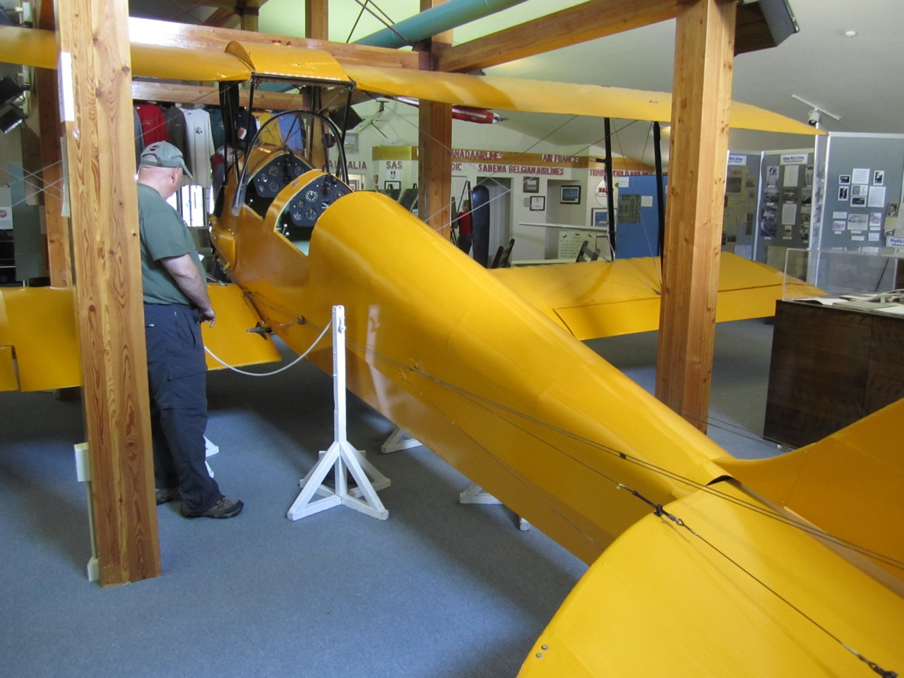 David Checking Out An Aircraft Inside The Museum
