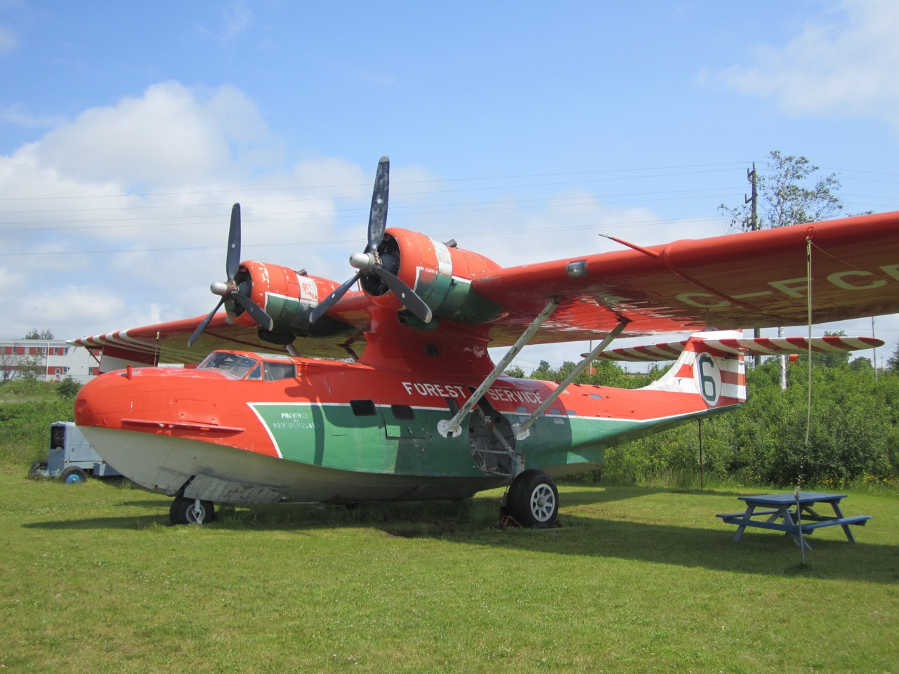 Aircraft On The Lawn Of The Museum.  Interesting Place For A Picnic Table.