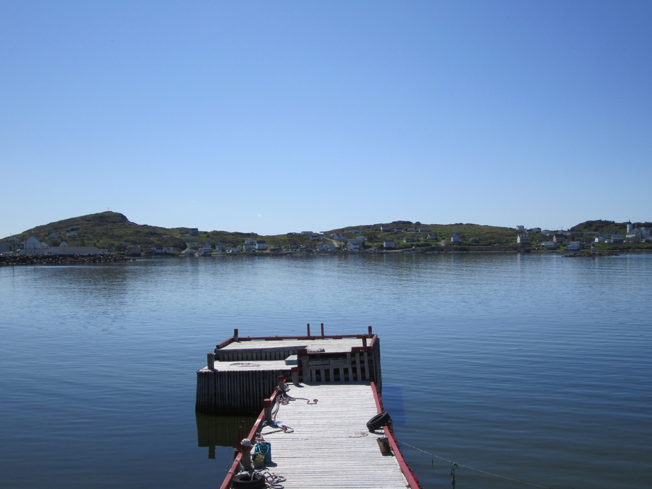 A Dock In Twillingate.  Nice Calm Waters.