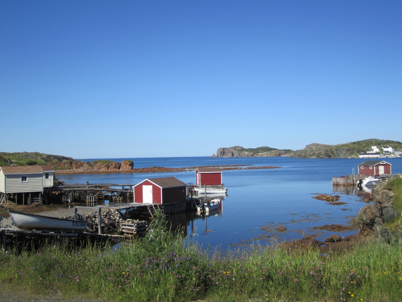 Docks And Fishing Shacks Over The Waters In Twillingate