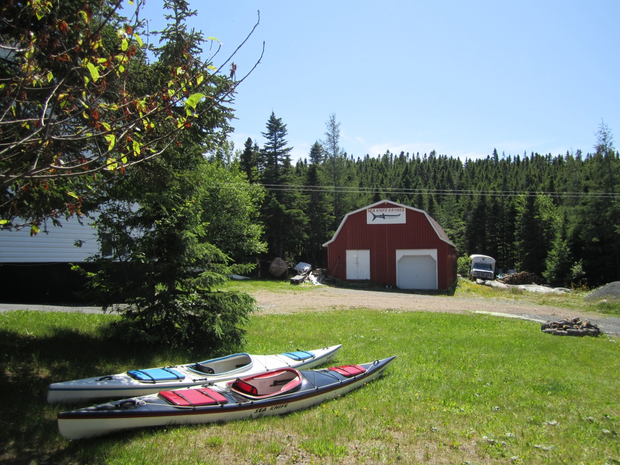 Sea Knife Kayak Headquarters In Cottlesville, Newfoundland