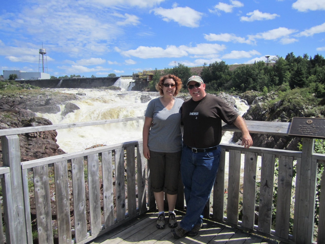 David And Brenda In Grand Falls-Windsor At The Salmonid Interpretation Center