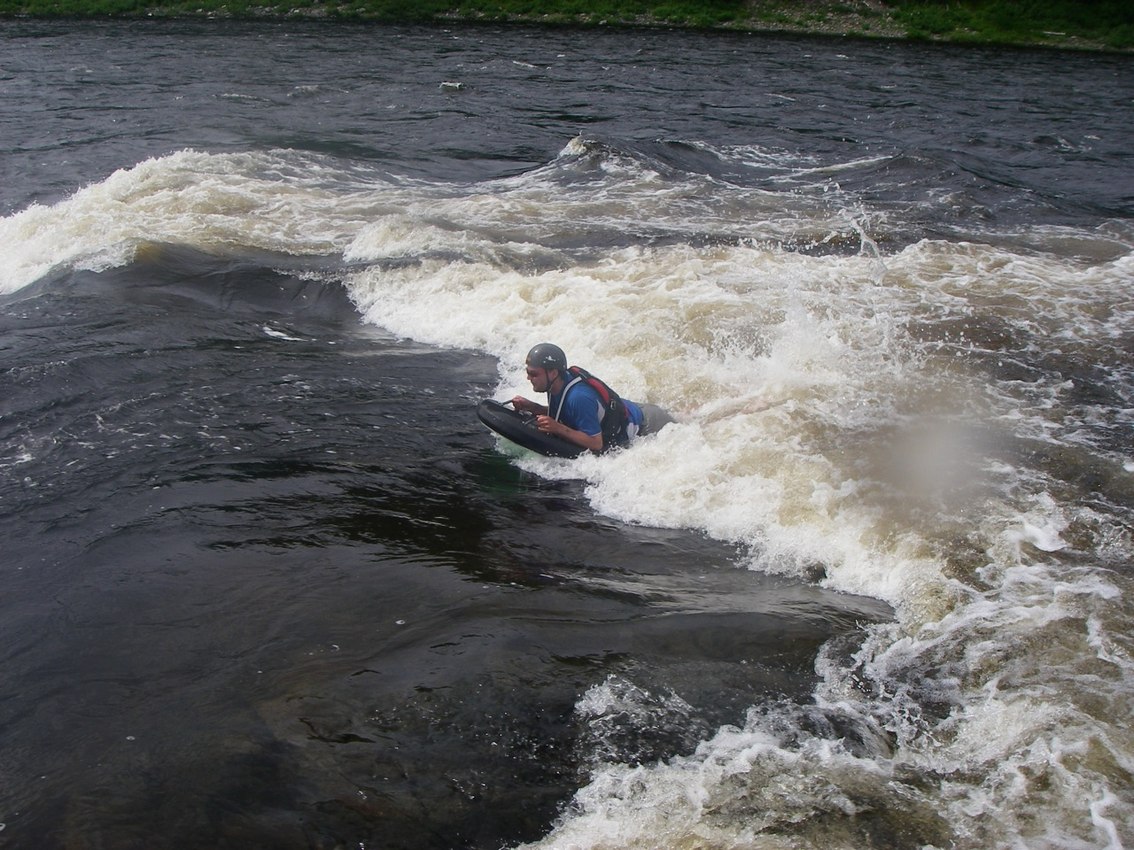 Some People Got Out After Lunch And Body Surfed In The Rapids.