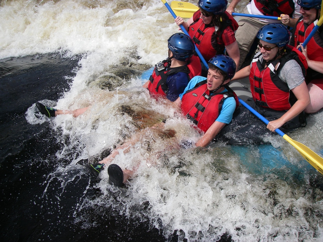 Our Raft Hitting A Deep Rapid