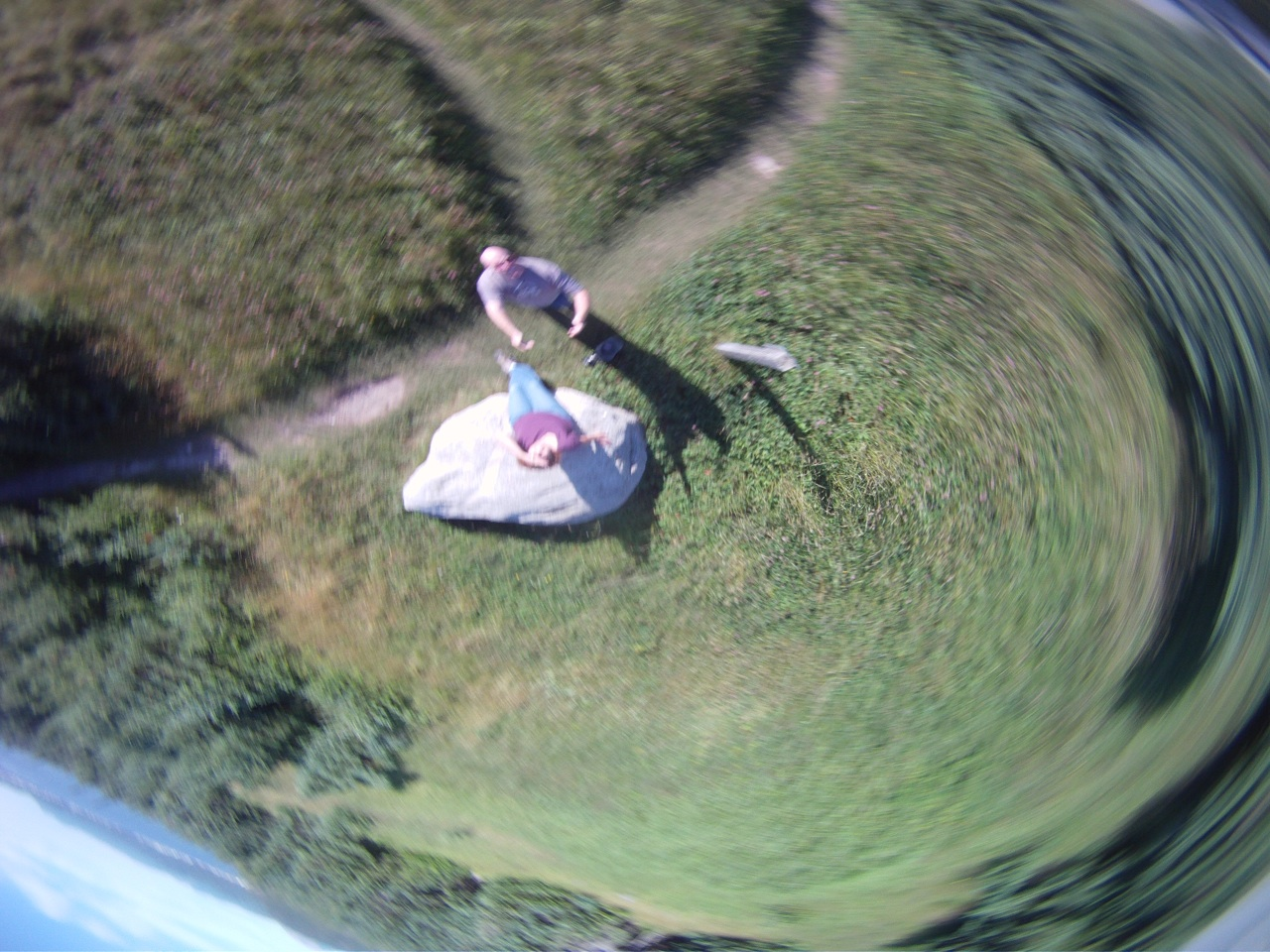 This Was David Tossing The GoPro Camera Into The Air