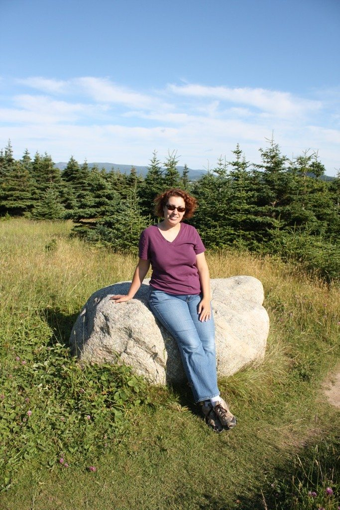 Brenda At A Walking Path By Lobster Cove Lighthouse