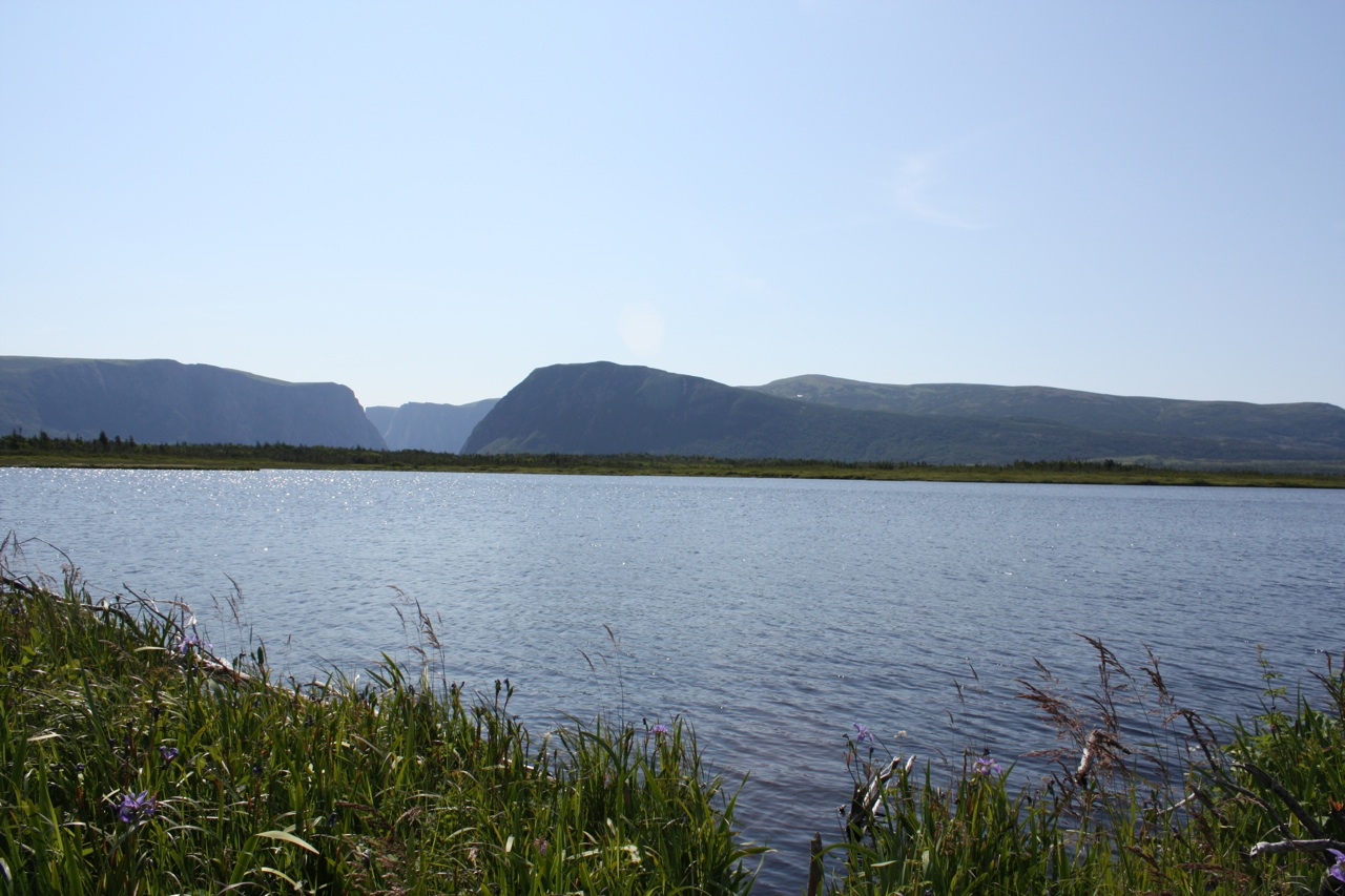 The Long Range Mountains And The Opening To The Fjord In The Background.