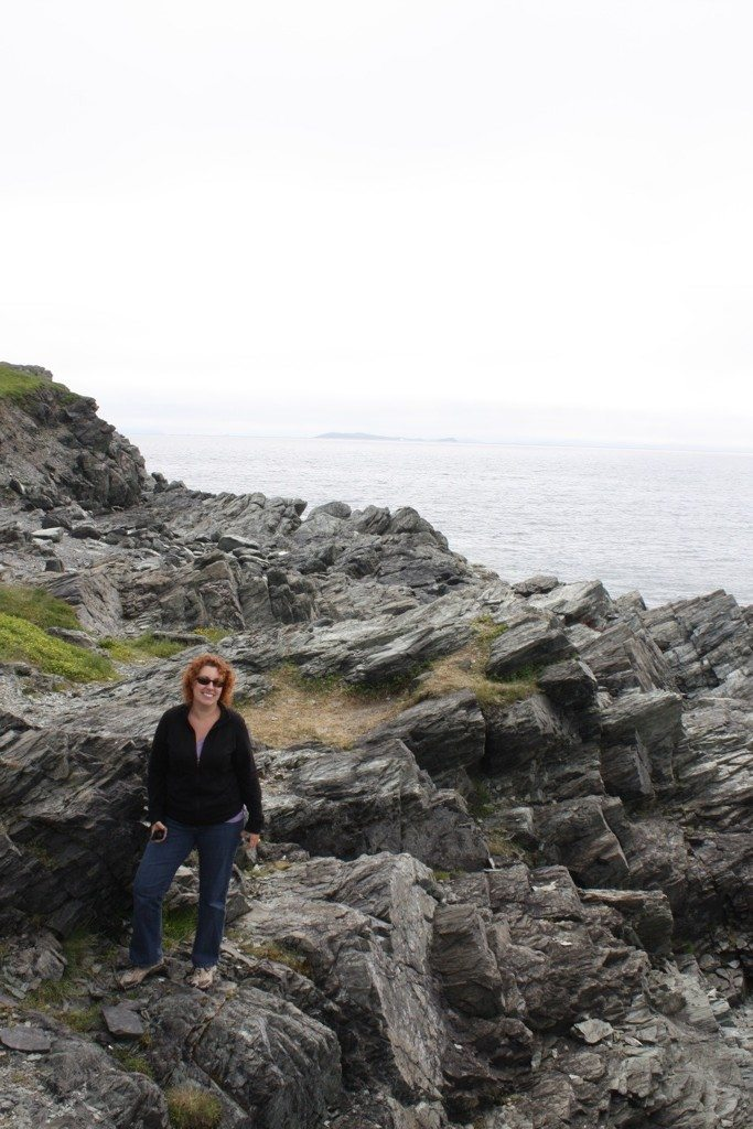 Brenda On The Rocky Cliffside Where The Icebergs Are