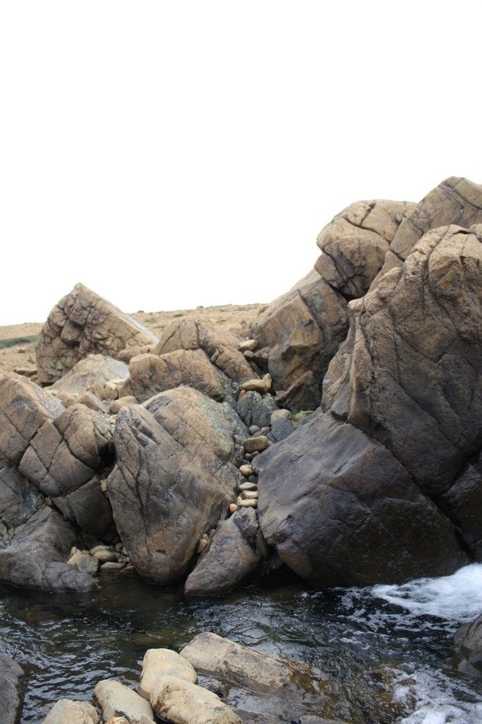 The Rock Formations At The Waterfall On The Tablelands Trail