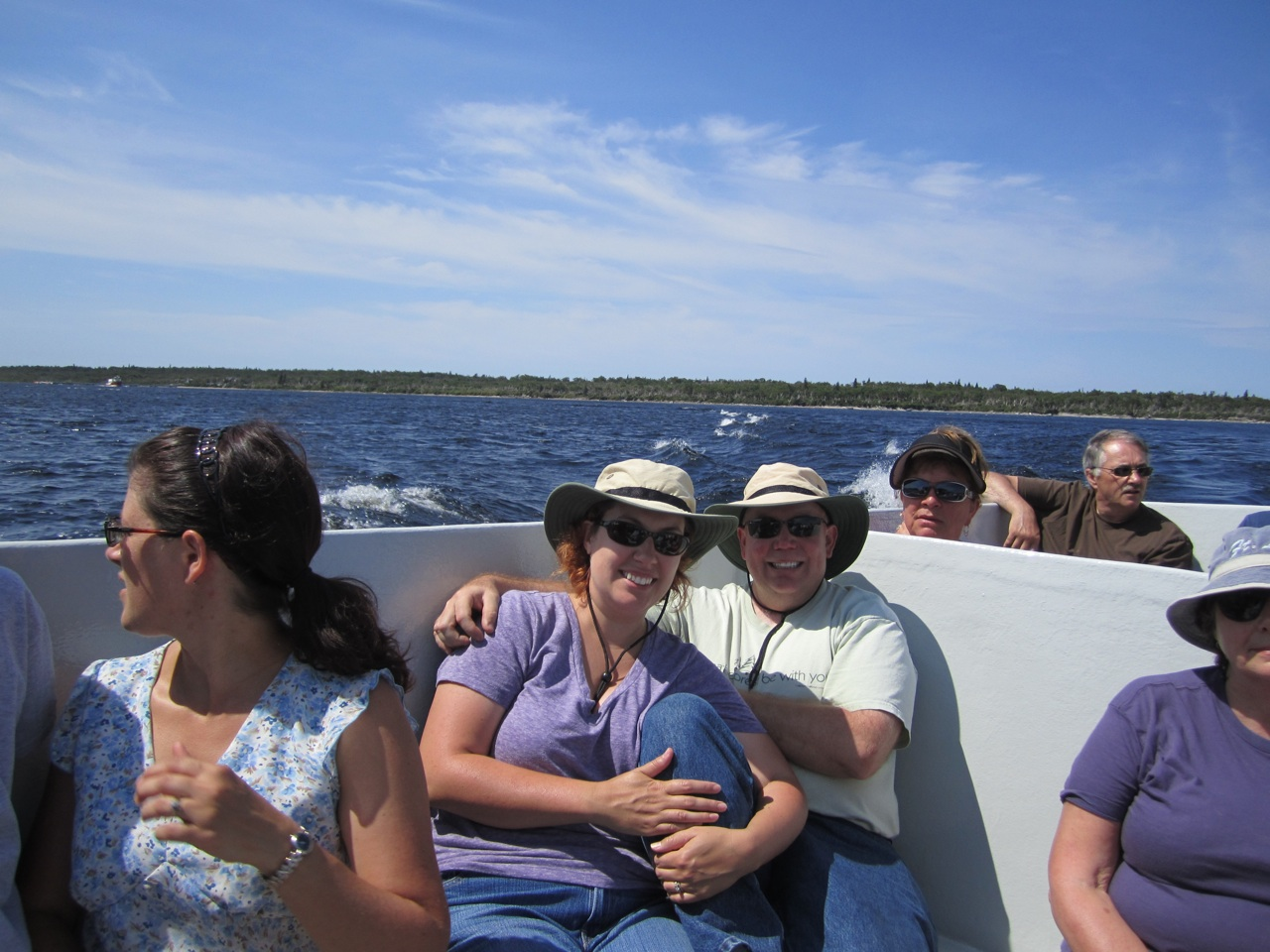 David And Brenda On The Boat Tour Of The Fjord In The Western Brook Pond.