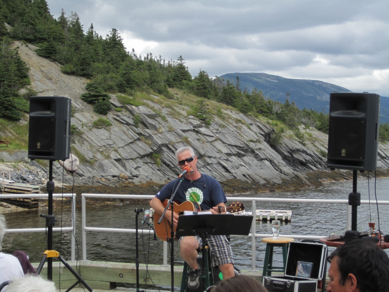 Jeff Quilty Entertaining The Crowd On The Outdoor Patio In Norris Point