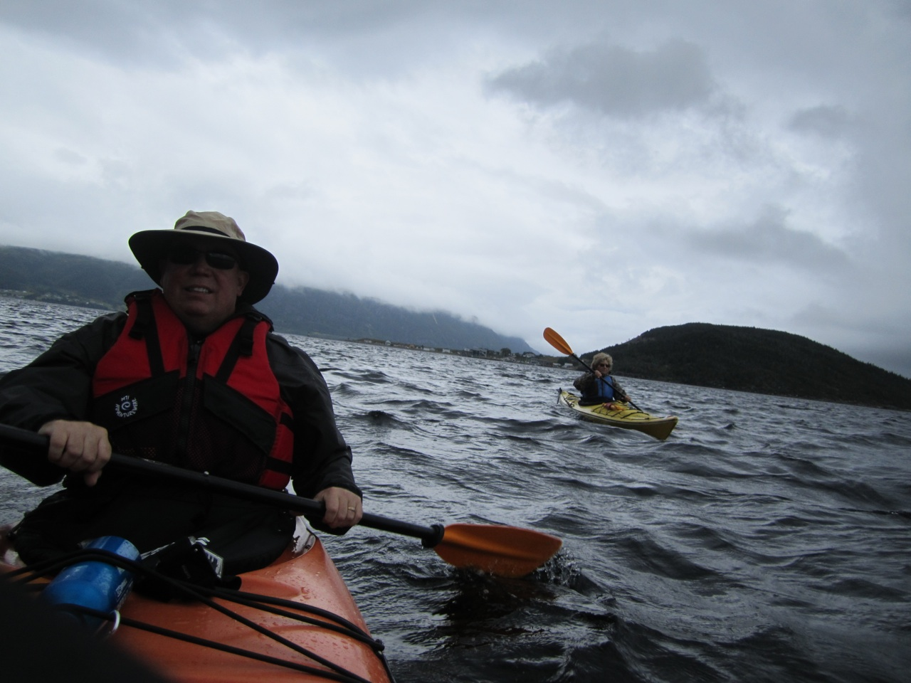 David And Evelyn Kayaking Bonne Bay At Norris Point