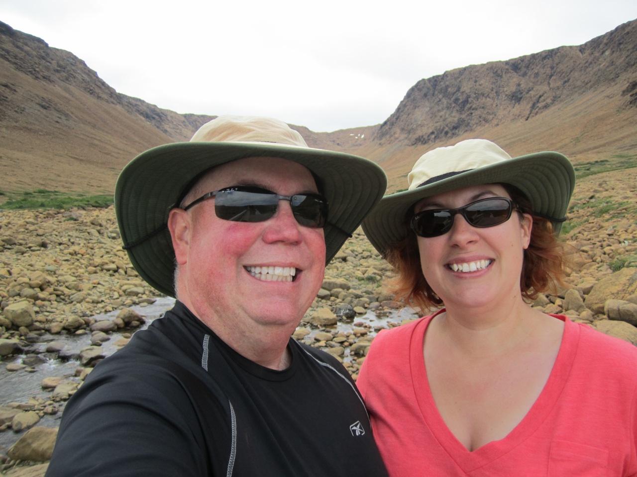 David & Brenda Hiking The Tablelands Trail