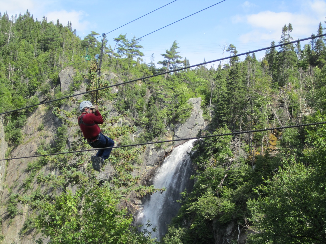 Curtis On The Zip Line At Marble Mountain