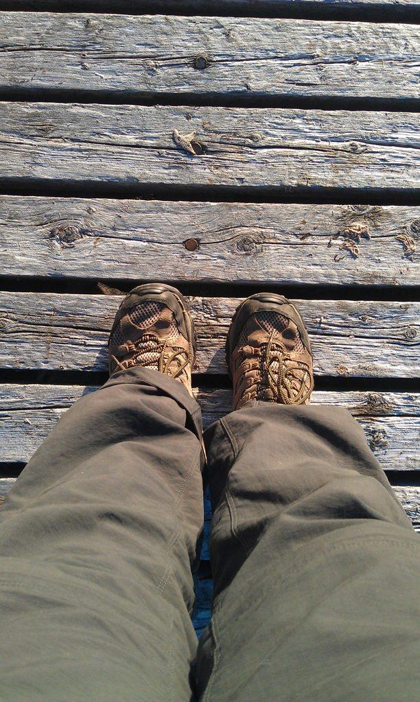 David's Feet On Deck Boards