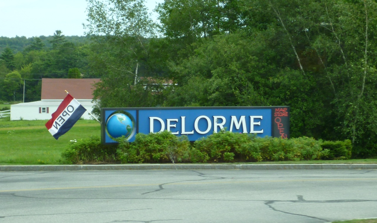 The DeLORME Sign In Yarmouth, Maine
