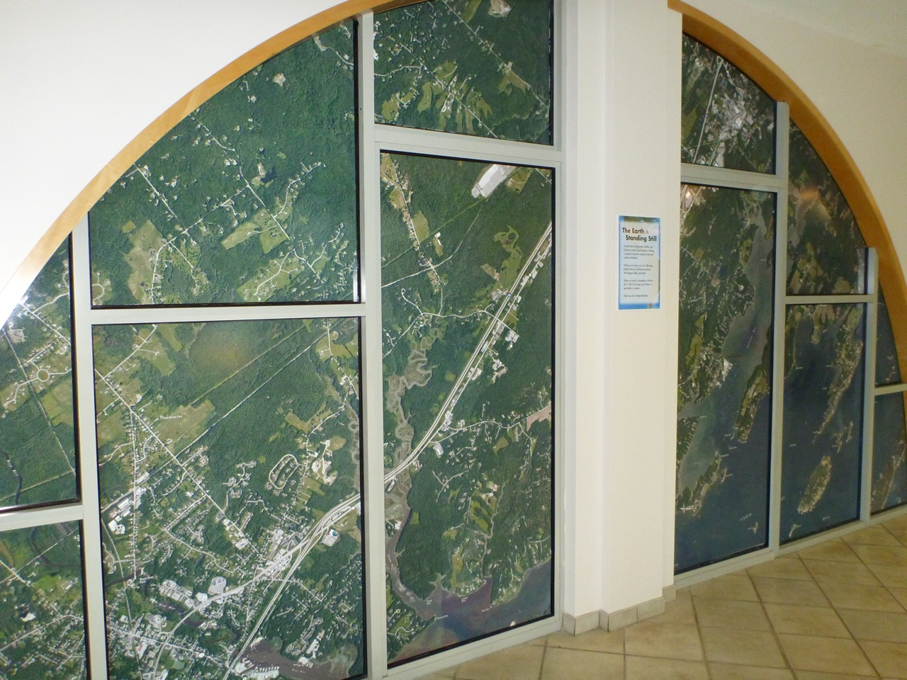 A Wall In DeLORME With A Map On It