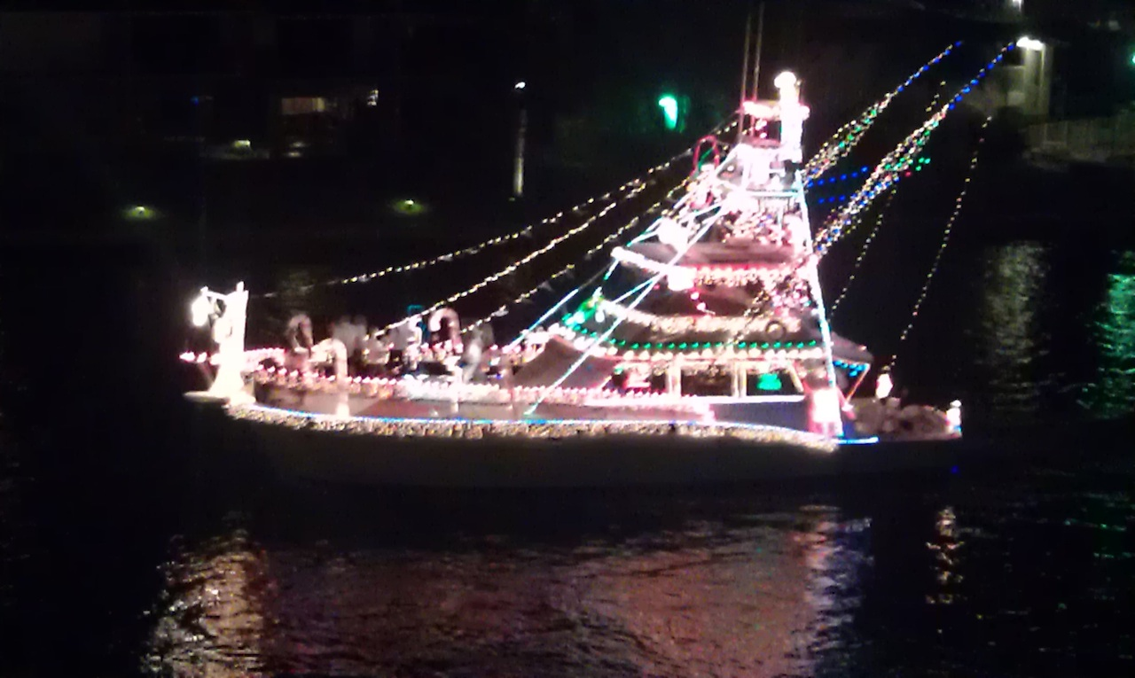 Another Boat Decked Out In Lights
