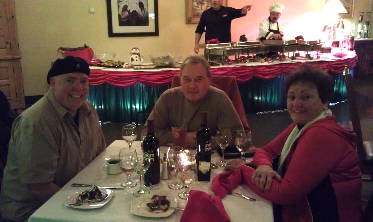 Christmas Eve Dinner With Curtis, Gladys, David and Myself At Lazydays RV Park In Tucson, AZ