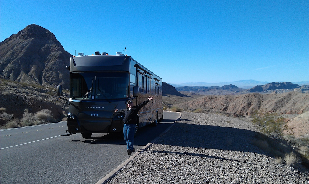 The Road From Lake Mead Recreation Area To Valley Of Fire State Park