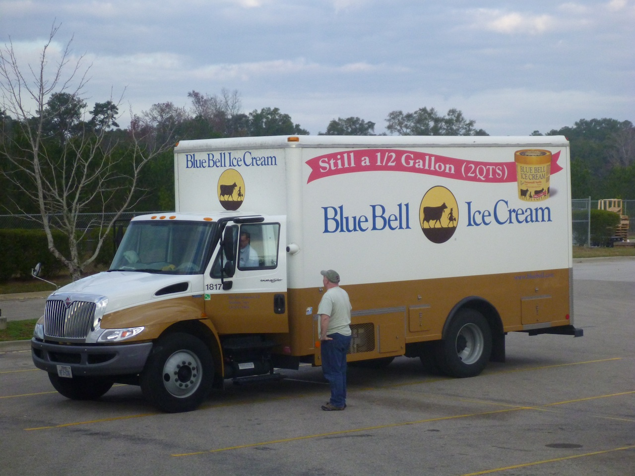 David Talking To The Blue Bell Ice Cream Truck Guy.