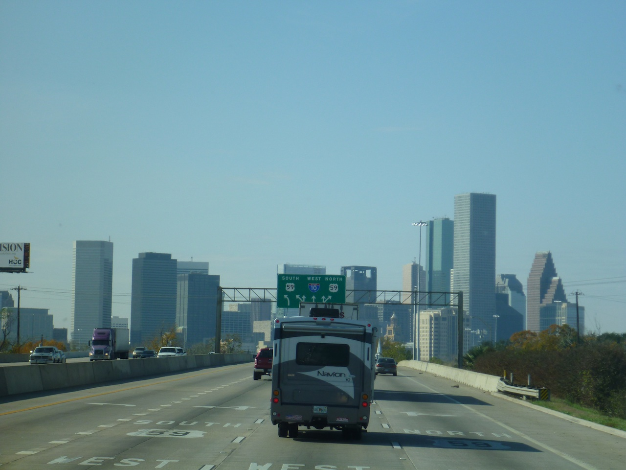 Driving Into Houston, Texas