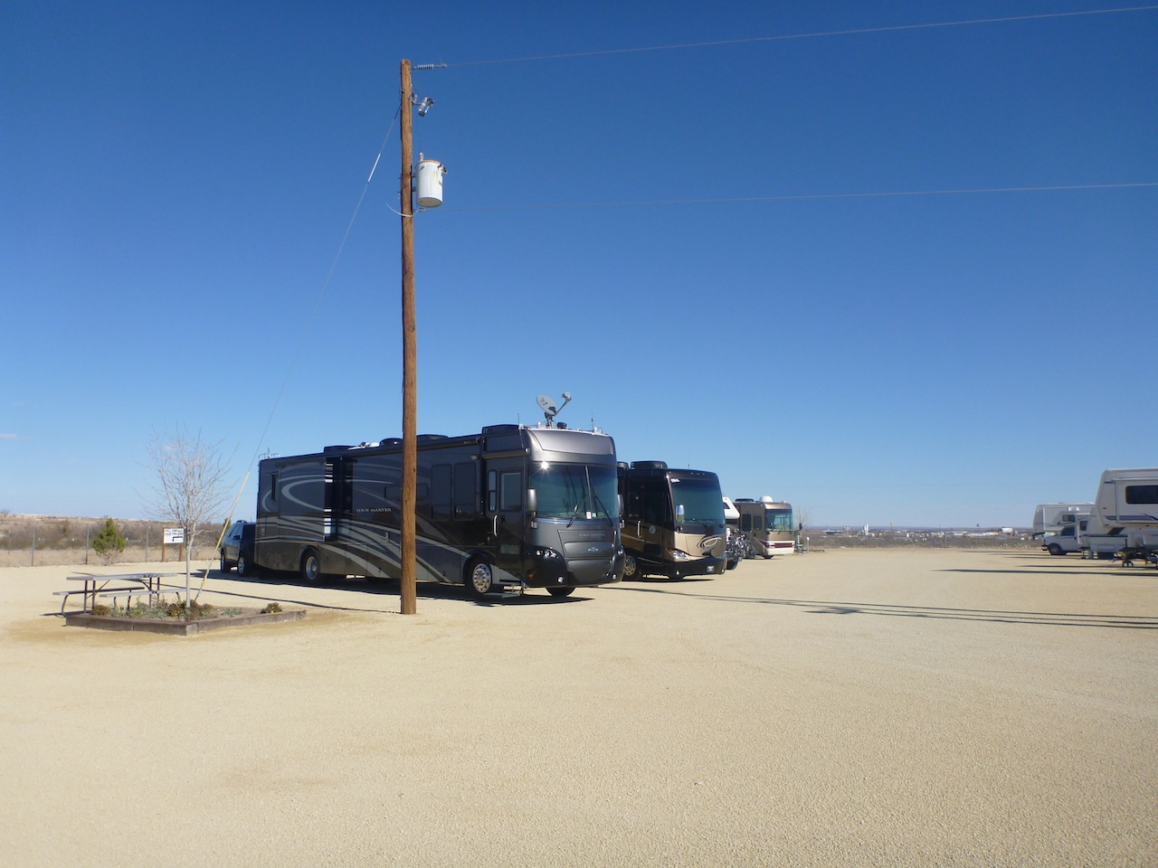 A Stop Over In An RV Park In Fort Stockton, TX