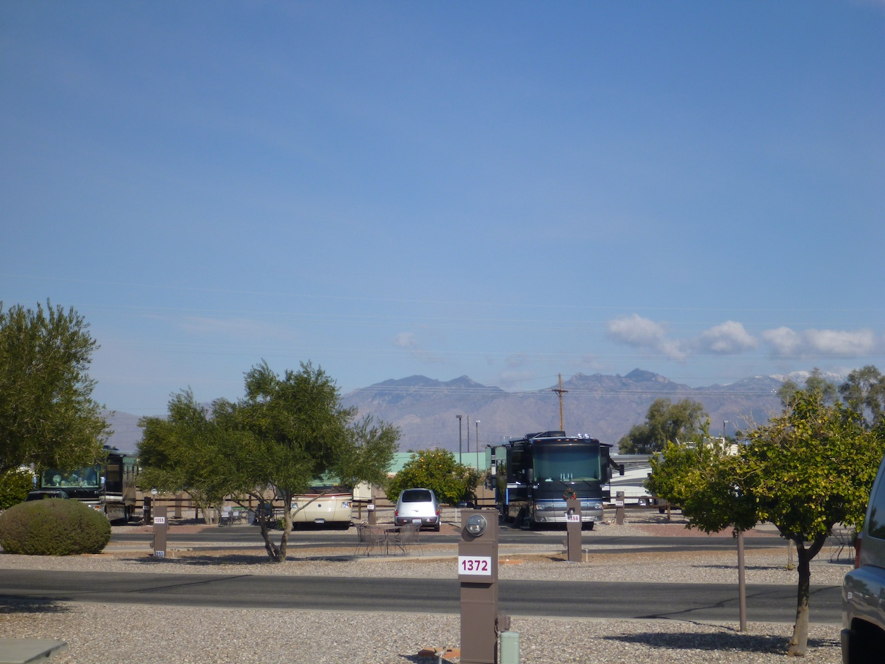 The View From Our Coach At The Lazydays RV Campground In Tucson, AZ